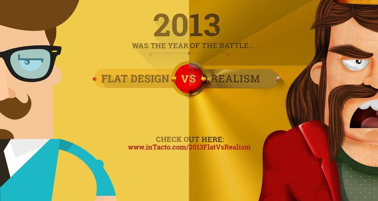 inTacto's 2013 FLAT DESIGN vs REALISM AMAZING EVERY DESIGNER HAS TO SEE THIS !!!!!!!!!