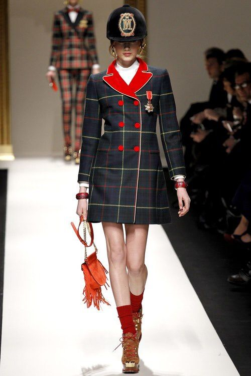 Image via We Heart It #beautiful #catwalk #Couture #fashion #flawless #girl #gorgeous #hautecouture #lovely #model #Moschino #peacoat #photography #plaid #pretty #runway #stunning #style #sweet #tartan
