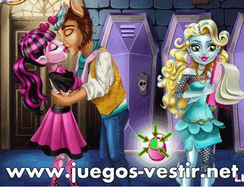 #Draculaura y #Clawd están muy enamorados en secreto y se quieren besar #juegosdevestir   #juegosdeamor    http://www.juegos-vestir.net/jugar/besos-de-draculaura