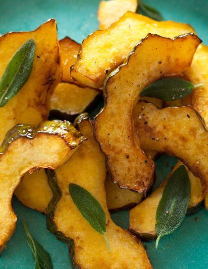 Maple Glazed Roasted Acorn Squash