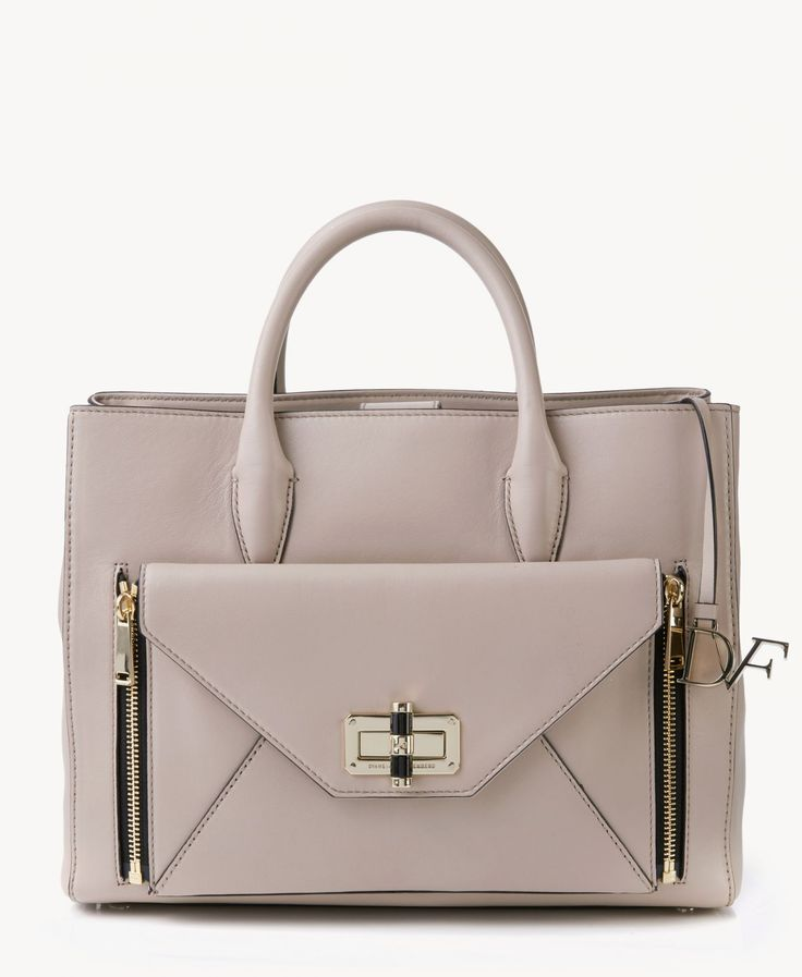 Handtasche 'Gallery large' Puder