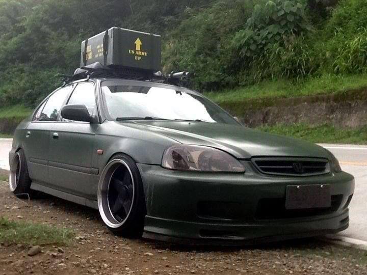 #honda #civic #sedan #slammed #stance