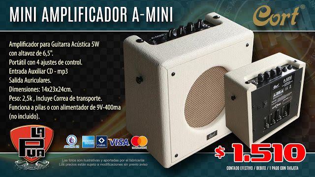"""La Púa San Miguel: Mini Amplificador CORT A-MINI 5W 1X6.5"""" - Para Gui..."""