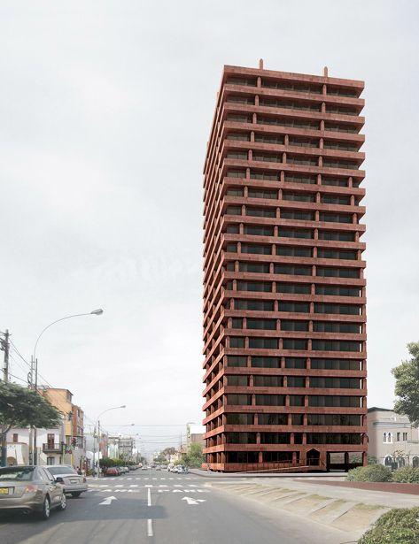 Valerio Olgiati - Proposal for an apartment tower, Lima 2010. Via.