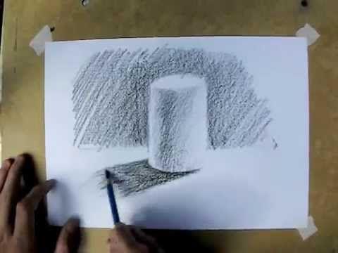 Desenho e Pintura - Desenhando um cilindro
