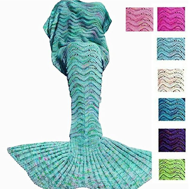 50% OFF ALL WEEK LONG  PROMO CODE: BLACK  Wavy Mermaid Blanket (sky blue)  7 COLORS!!!  GIFTS FOR HER, GIFTS FOR GIRLS, CHRISTMAS PRESENTS  #crochet #fashion #mermaid #gifts  #christmas #present