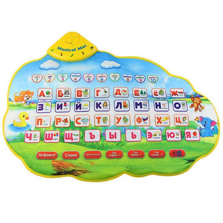 MIRABBIT Creative 73X49cm Russian Learning Mat /Russian Child's Play Musical Children Carpet Game Mat Kids Baby Carpet Play Mat
