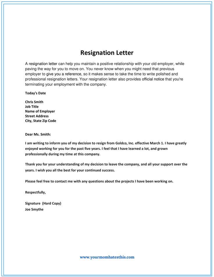 Resignation Letter Sample Not Good Fit Letters Livecareer  Home