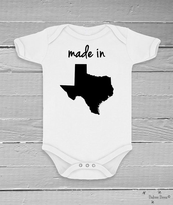 Hey, I found this really awesome Etsy listing at https://www.etsy.com/listing/158266353/made-in-state-custom-baby-clothes