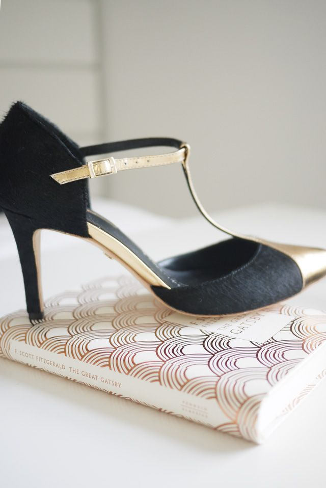 Upper Street Shoes – Design Your Own Shoes! We love these black pony and rose gold t-bar court shoes designed by Charley at @LondonBride