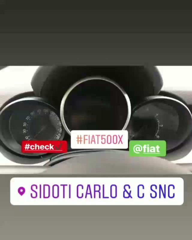 Check Fiat 500 x  #sidotisnc #sidotimistretta #unmondodiserviziatuadisposizione #officinasidoti #autofficina #motor #mechanic #tuning #powerincrease #power #car #carsoninstagram #fiat #fiat500x #fiat500 #check  @fiat @carlettosidoti @carlo.sidoti85
