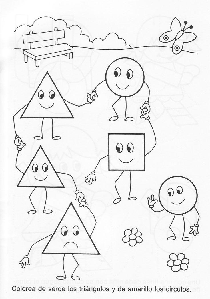 fichas sobre formas geométricas - pré-escolar - Pesquisa Google