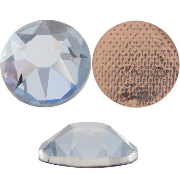 Swarovski 2078 XIRIUS Rhinestones Hot Fix, Crystal Blue Shade, Round, ss34 Foiled