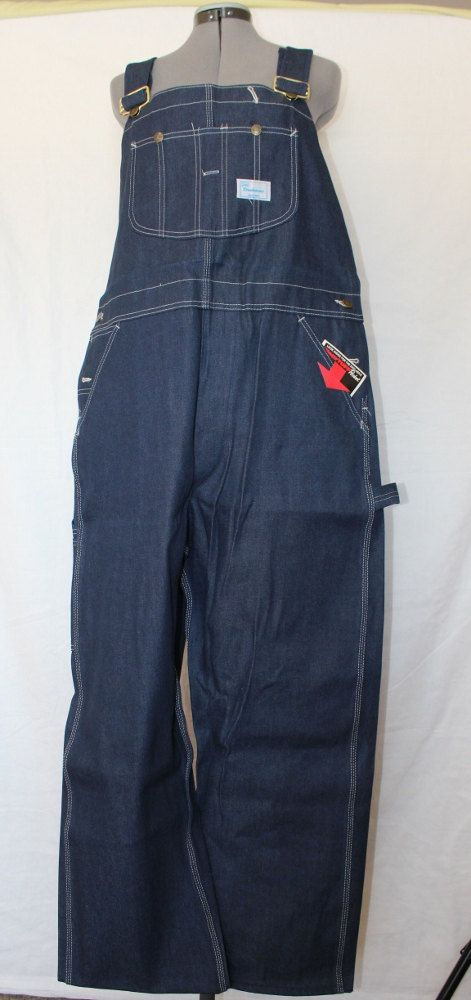 Vintage Dark Blue Sears Bib Overalls, NOS with Tags, Sears Tradewear, Made in USA by ilovevintagestuff on Etsy