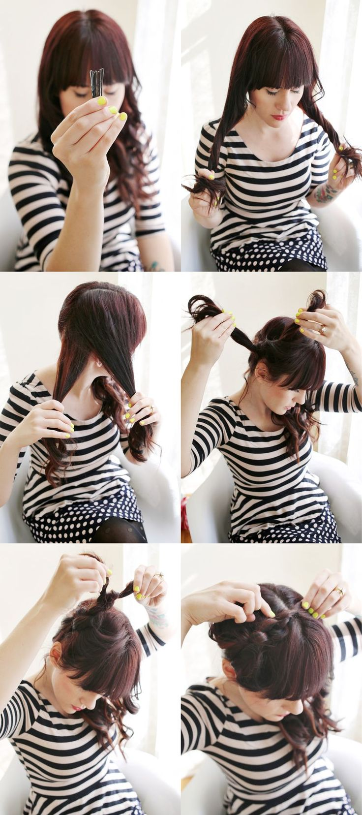 how to style your hair with a straightener knot hairstyle this style is easy to 2239