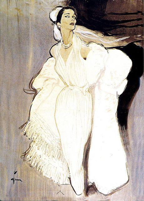 Illustration by René Gruau (1909 - 2004) for Balmain. http://www.flickr.com/photos/53035820@N02/5405848343/