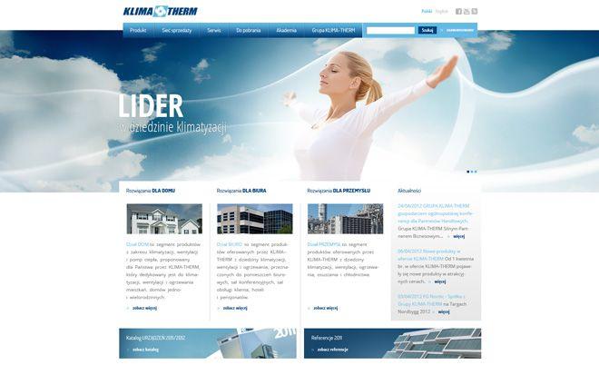 Klima-Therm: Rozbudowany serwis www - Agencja interaktywna Jamel Interactive