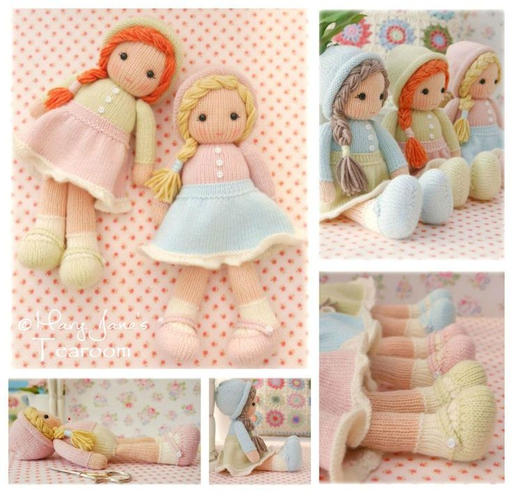 New! Little Yarn Dolls / PDF email Doll Knitting Pattern/ TEAROOM Knitted Dolls/ Toy Knitting Pattern
