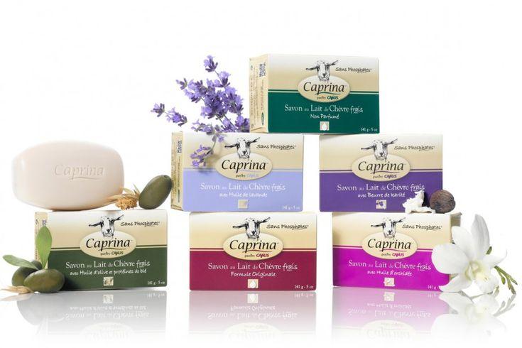 Recevez 6 savons au lait de chèvre Caprina GRATUITS !!!