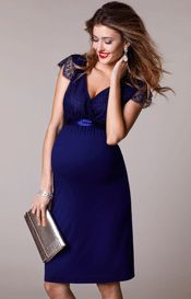Kristin Maternity Gown Long Indigo Blue – Maternity Wedding Dresses, Evening Wear and Party Clothes by Tiffany Rose