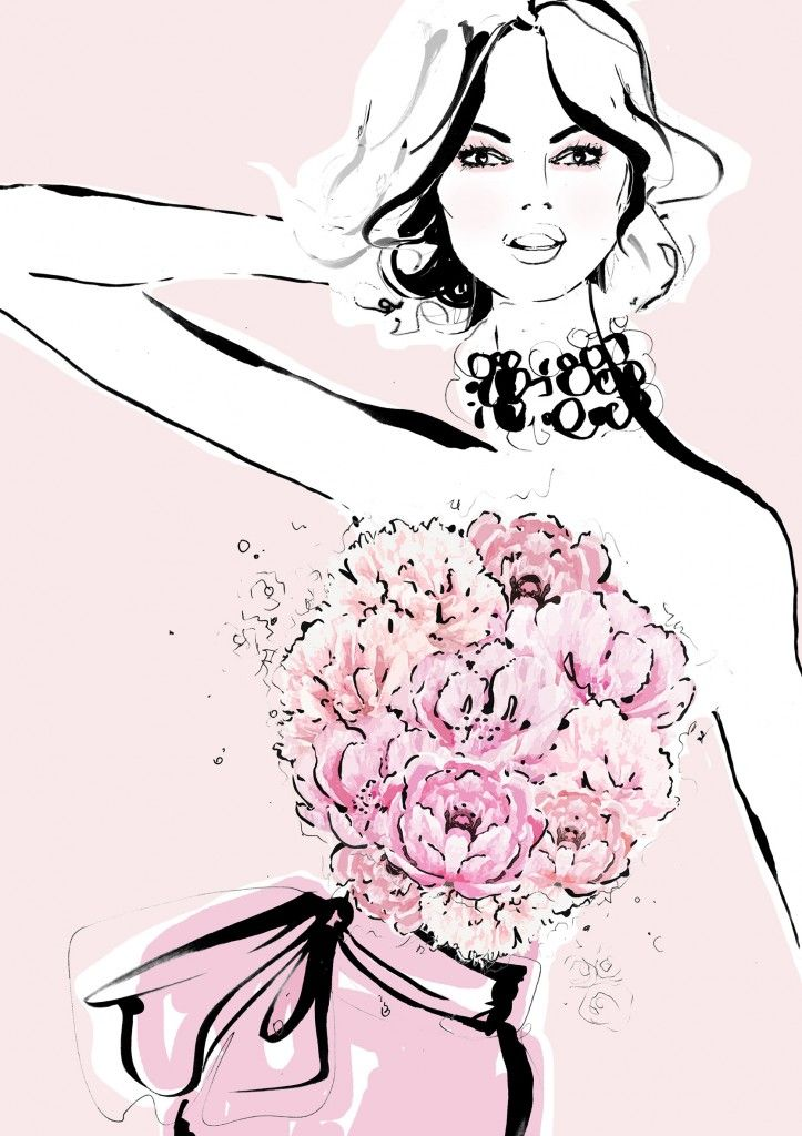 Peonies meet fashion in limited edition Megan Hess illustrations for Mother's…