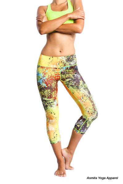 VIRA CAPRIS - When Yoga meets Fashion. These capris are sure to be the icon of yoga fashion you will ever own! Feel comfortable and look great in these amazing yoga pants!