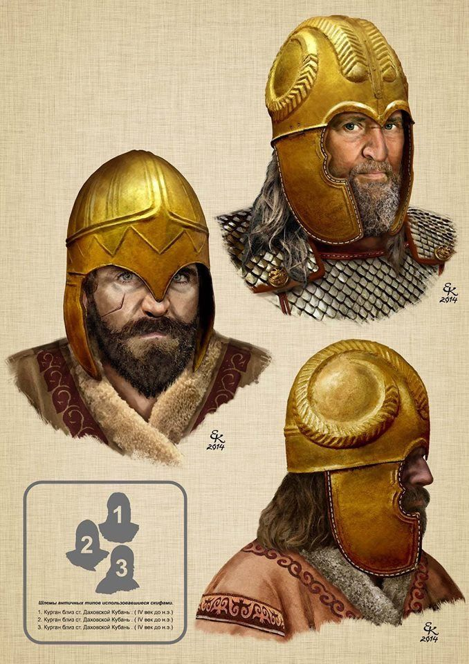 Scythian noble warriors