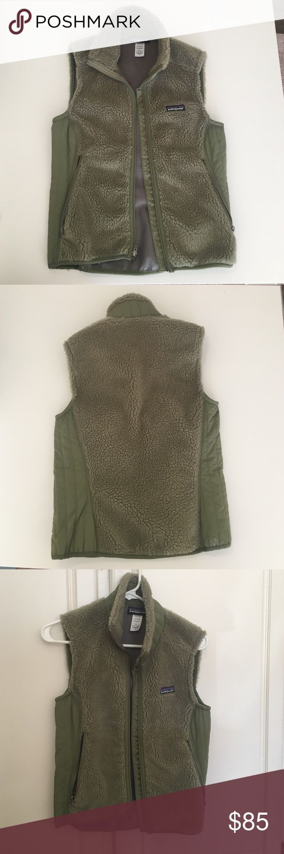Sage green Patagonia fleece vest This vest has hardly been worn! It's super soft and cozy. I just don't find much use for it because I live in a warmer climate, but it's perfect for cooler weather! Patagonia Jackets & Coats Vests