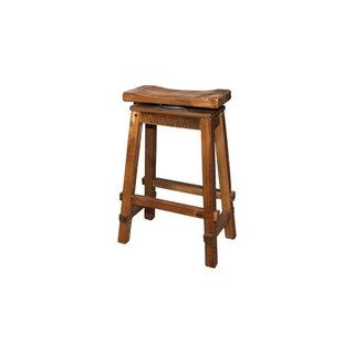 Shop for Rustic Reclaimed Barn Wood Bar Height Swivel Saddle Stool -Clear Varnish. Get free shipping at Overstock.com - Your Online Furniture Outlet Store! Get 5% in rewards with Club O! - 23865303