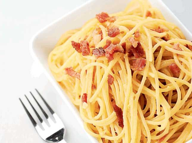 This carbonara recipe is wonderful�no cream, all good!