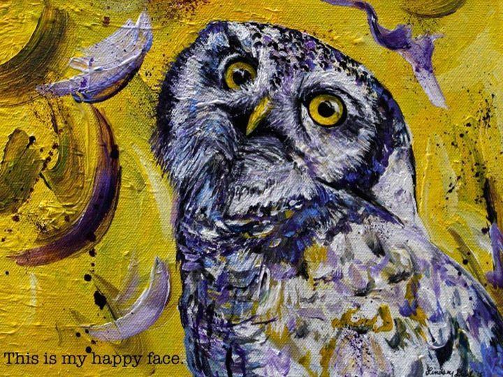 Art by Lindsey Dahl #torpedoowl #happyface https://www.facebook.com/ArtByLindseyDahl/