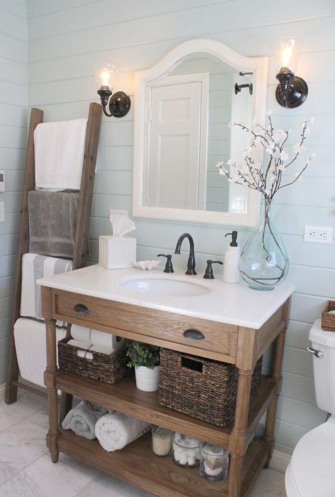 Beach House Interiors Houzz Farmhouse Bathroom Decor