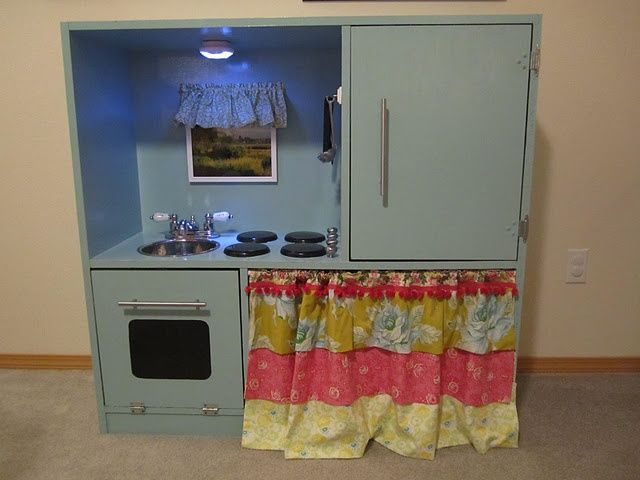 tv stand play kitchen | DIY Kids Play Kitchen out of a TV stand! (This is my ... | Olivia Ide ...