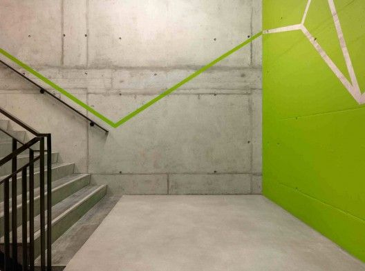 stairs detail green architecture archdaily http://www.archdaily.com/285637/umwelt-arena-rene-schmid-architekten/