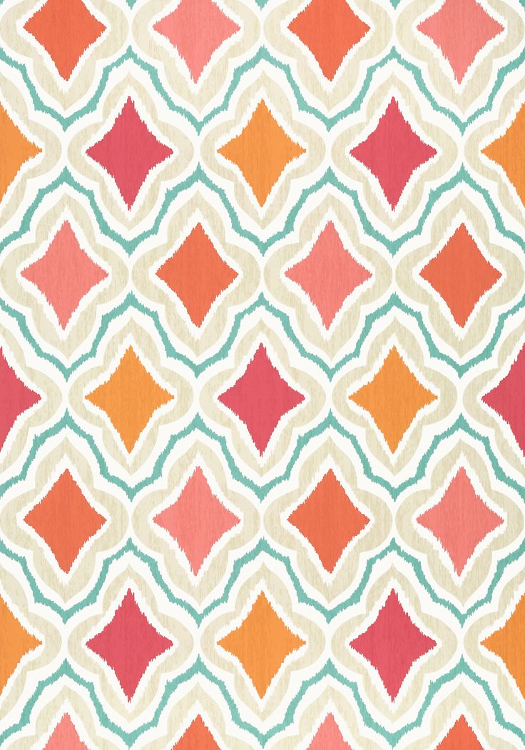 Wallpaper ~~ CRUISING, Orange And Pink, Collection Trade Routes From Thibaut
