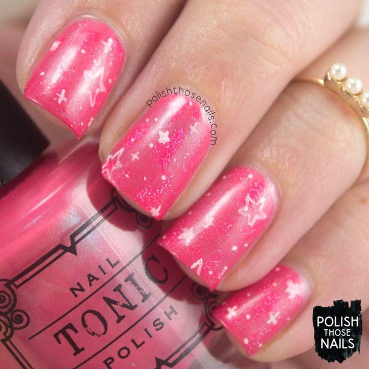 Endless Pink Galaxy Sparkles // Polish Those Nails // Inspired by lvnnsi // indie polish - tonic nail polish - parallax polish (press sample) - nail art