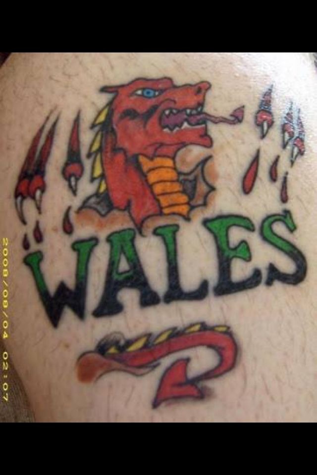 My brothers tat. A proud Welsh man
