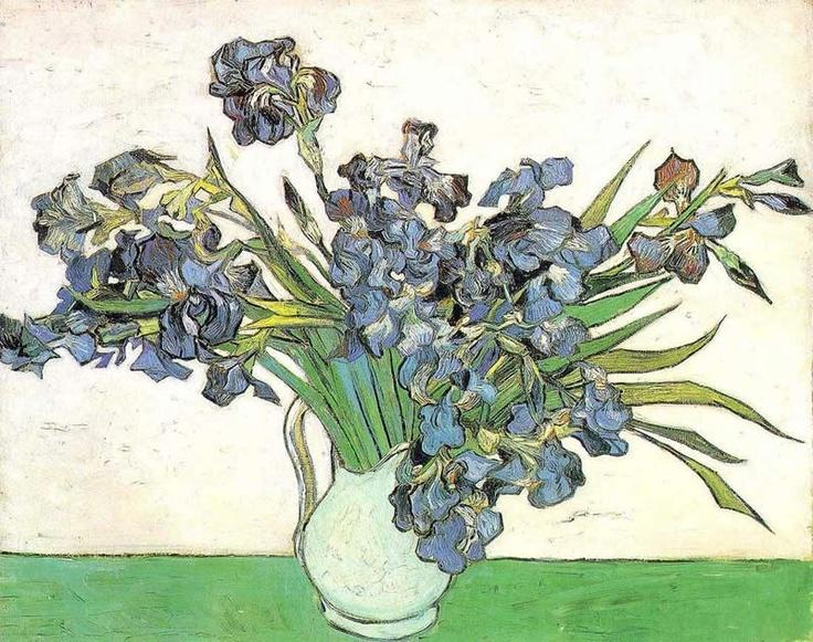 Vincent van Gogh Vase with Irises painting anysize 50% off