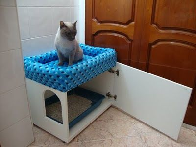 M s de 1000 ideas sobre casa de juegos para gatos en for Mueble arenero para gatos