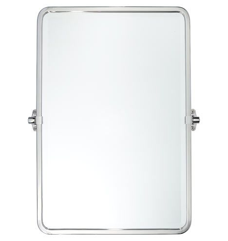 """Tolson Rounded Rectangle Pivot Mirror 32"""" tall - Polished Chrome C2649"""
