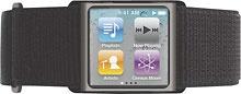 Griffin Technology - Aerosport Armband for 6th-Generation Apple® iPod® nano - Black/Gray
