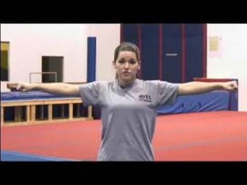 "Basic Moves for Cheerleading Routines : How to Do the ""T"" Stunt in Cheerleading - YouTube"