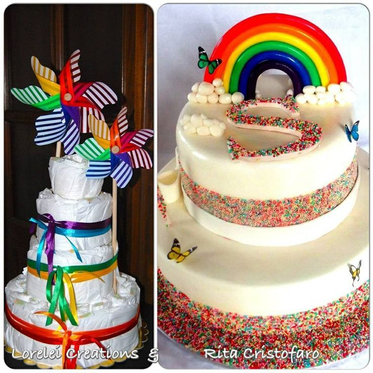 Rainbow Diaper/cake
