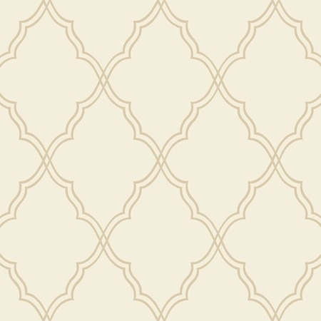 Candice Olson Wallpaper - Moroccan Lattice in Sand: Traditional Patterns, Neutral Wallpaper