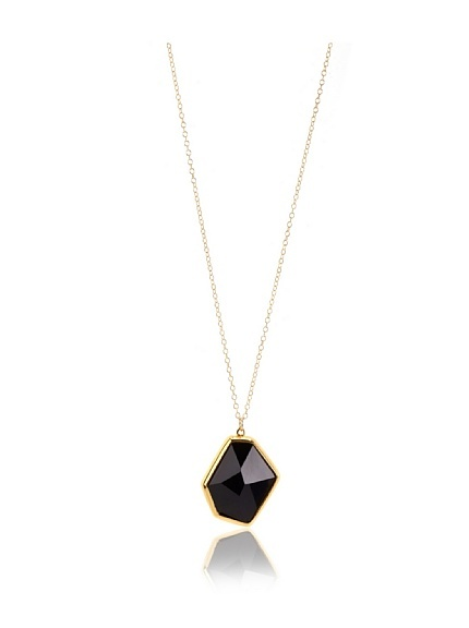 Gold & Black Out of this World Crystal Pendant Necklace