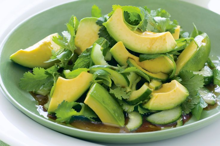 A powerhouse of nutrition, green avocados are the star ingredient in this Asian-style salad side.