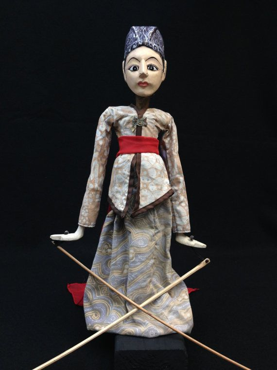 Wayang Golek Puppet from Java by EthnicArtandJewelry on Etsy