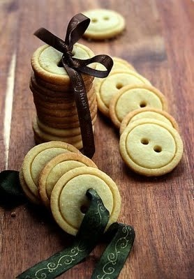Button cookies. Adorable.