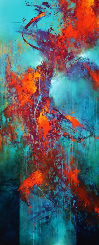 Colorful Painting Series Santa Fe Large abstract contemporaryTexas Dallas Houston Austin California New York Art - Cody Hooper Art