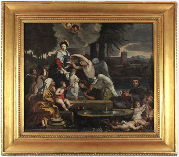 The family of Mary. The artist has put his signature in a piece of architecture bellow. #Mary #allegorical #biblical